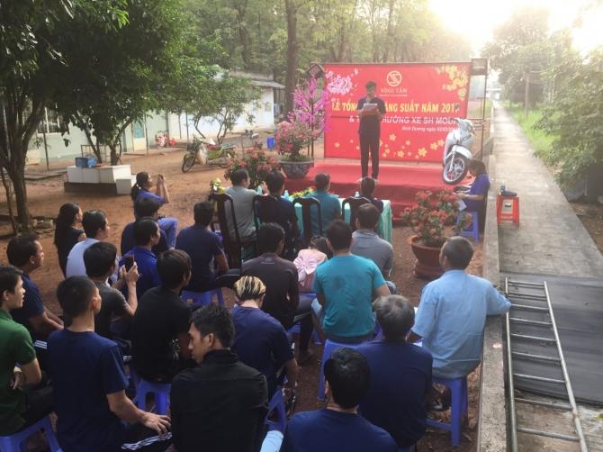 Lễ tổng kết năng suất năm 2017 và trao thưởng xe SH mode cho trại Vĩnh Tân 1